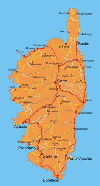 Karte Sardinien Süden.Bilderreisen Korsika übersicht Landesstruktur Fakten