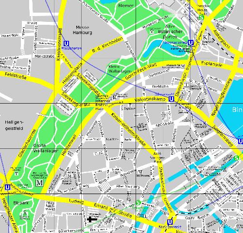 Hamburg Karte Sehenswurdigkeiten.Hamburg Neustadt Sehenswurdigkeiten