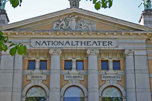 Oslo, Nationaltheater Fassade
