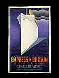 Empress of Britain colour lithograph poster for Canadian Pacific Railways, J.R. Tooby, 1920 - 31 © Victoria and Albert Museum, London