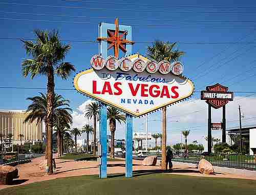 Schild Welcome to Fabulous Las Vegas