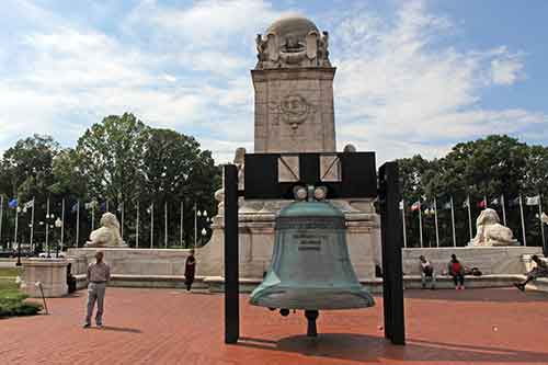 Washington, DC, Union Station, Replik der Philadelphia Liberty Bell